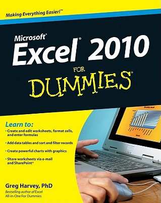 Excel 2010 for Dummies By Harvey, Greg